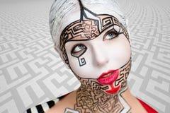 Kunst bilden Labyrinthpuzzlespiel Lizenzfreie Stockbilder