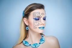 Kunst bilden schwarzes Labyrinthpuzzlespiel Lizenzfreie Stockfotografie