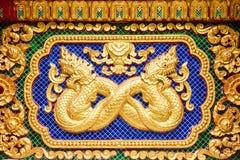 Kunst in de tempelmuur Stock Afbeelding