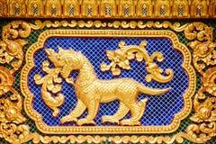 Kunst in de tempelmuur Royalty-vrije Stock Foto