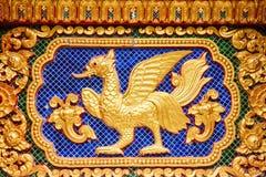 Kunst in de tempelmuur Royalty-vrije Stock Afbeelding