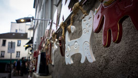 Kunst der Katze in Le Montmartre, Paris Stockfoto