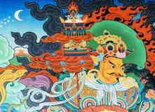 Kunst des buddhistischen Tempels Stockfotos
