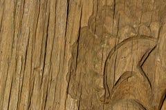 Kunst des hölzernen Schnitzens Detailthreads stockbild