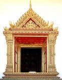Kunst des thailändischen Tempels des Fensters Lizenzfreie Stockbilder