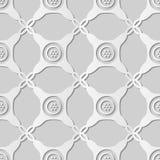 Kunst des Weißbuches 3D runde Ecken-Kontrollkreuz Dot Frame stock abbildung