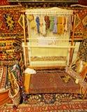 Kunst en Ambacht van Perzische Tapijten Stock Afbeeldingen