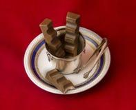 Kunst en chocolade Stock Foto