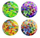 kunst en collageverf en samenvatting en kleur Stock Afbeelding