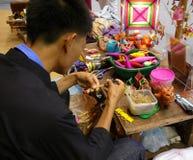 Kunst en Vakmanschap in Bangkok Thailand stock foto's