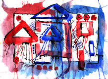 Kunst en verf en samenvatting en kleur Stock Afbeeldingen