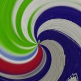 Kunst färbt Strudel Stockbilder