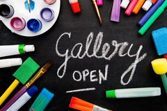 Kunst - Galerie offen Stockfotografie