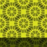 Kunst-Gelbmuster der nahtlosen abstrakten Weinlese helles Vektor Abbildung