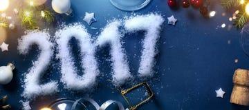 Kunst 2017 guten Rutsch ins Neue Jahr Vorabend; Patry-Hintergrund Stockfoto