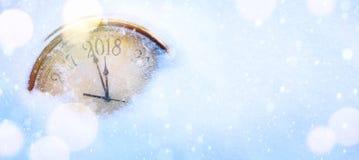 Kunst 2018 guten Rutsch ins Neue Jahr Vorabendhintergrund Stockbilder