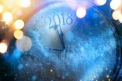 Kunst 2018 guten Rutsch ins Neue Jahr Vorabendhintergrund Stockbild
