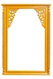 Kunst houten kader Royalty-vrije Stock Afbeeldingen