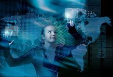 Kunst-Internet-Geschäftskommunikation Stockfoto
