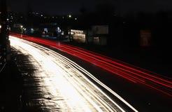 Kunst lichte straat, kunstfoto voor allen stock afbeeldingen