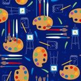 Kunst liefert nahtloses Wiederholungs-Muster Lizenzfreie Stockfotos