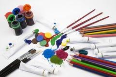 Kunst-Materialien Lizenzfreies Stockbild
