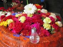 Kunst mit Blumen Stockbild