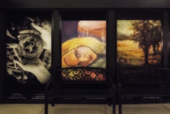 Kunst Montreals Undergroung lizenzfreie stockbilder