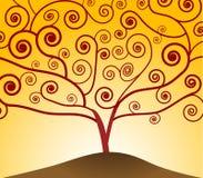 Kunst Nouveau Baum Lizenzfreies Stockfoto