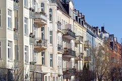 Kunst nouveau Fassaden in Kiel Lizenzfreies Stockfoto