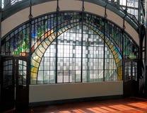 Kunst-Nouveau Fenster Stockfotos
