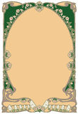Kunst-nouveau van het kader Stock Afbeelding