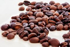 Kunst pic mit Kaffeebohnen stockfoto