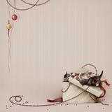Kunst, prentbriefkaar, achtergrond, vakantie, Nieuwe Kerstmis, royalty-vrije illustratie