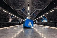Kunst Stockholm-Metro-(U-Bahn) stockfotos