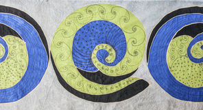 Kunst textil achtergrond Royalty-vrije Stock Afbeelding