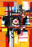 Kunst- und Collagenlack und Auszug und Farbe Lizenzfreies Stockfoto