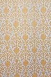 Kunst van de het patroon de Thaise stijl van de bloem van de tempel Royalty-vrije Stock Foto's