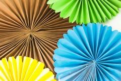 Kunst van gekleurd document Of Origami en idee van kunst en ambachten Stock Foto's