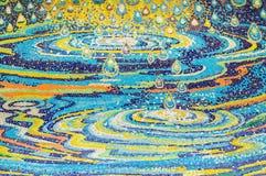 Kunst van het verglaasde patroon van de tegeldaling op heiligdomsmuur Stock Foto