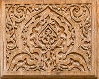 Kunst van houtsnijwerk. Stock Foto