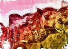 Kunst van kameel met mooi gebruik van kleuren royalty-vrije illustratie