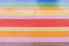 Kunst van kleurrijke verglaasde tegel op heiligdomsmuur Royalty-vrije Stock Foto