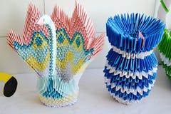 Kunst van origami Stock Foto's