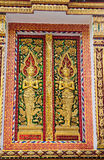 , Kunst van Thais stijlvenster Stock Foto
