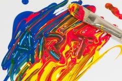Kunst in verf wordt geschreven die Stock Fotografie