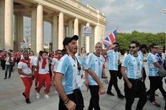 Kunst-voetbal festival in Moskou Stock Foto's