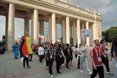Kunst-voetbal festival in Moskou Team van Duitsland Stock Foto's