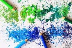 Kunst von farbigen Bleistiften Lizenzfreie Stockfotografie