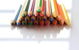 Kunst von farbigen Bleistiften Stockfoto